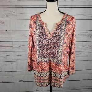 Lucky Brand top cool print size XL